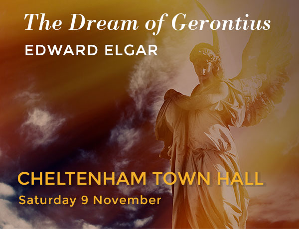 The Dream of Gerontius.  Edward Elgar.  Performed by Cheltenham Bach Choir on Saturday 9 November at Cheltenham Town Hall