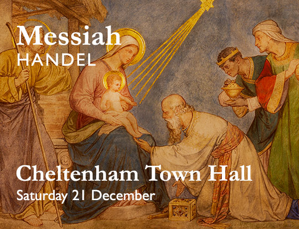 Handel's Messiah. Performed by Cheltenham Bach Choir on Saturday 21 December at Cheltenham Town Hall
