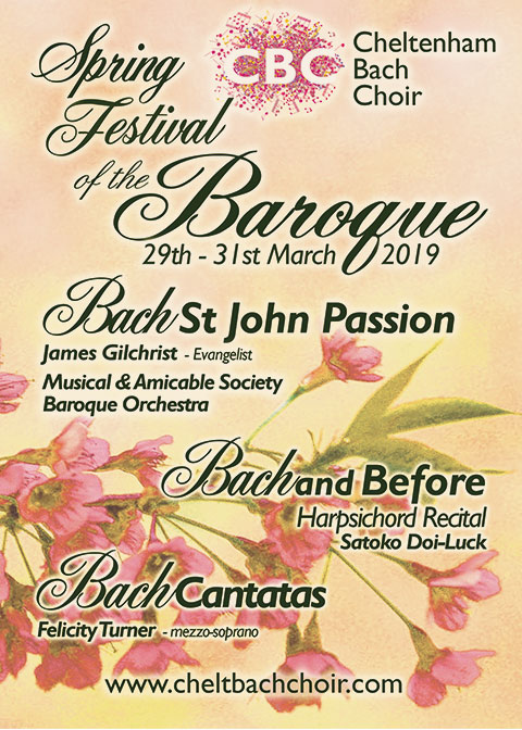 Spring Festival of the Baroque 2019 Cheltenham Bach Choir